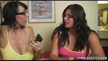 Busty Brunettes Want A Cumshot thumbnail