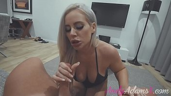 BUSTY BLONDE PORNSTAR GIVES HOT POV BLOWJOB