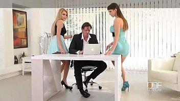 Office Adventures-Luxury Secretaries fuck the Boss 14 min