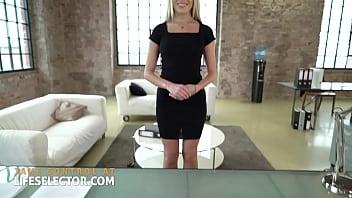 Sexy secretary Angelika Grays gets anally ravaged
