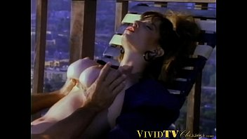 Christy canyon porn - Busty vintage milf in black stockings takes it missionary