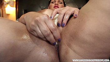 Image: Big Titted Angelina Casto Fucks Pussy With PEARLS!!!