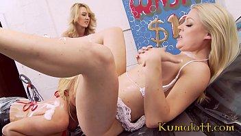Cindy Behr & Michelle Thorne & Katie K Lesbian Carwash Orgy