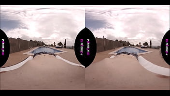 PORNBCN VR 4K | Young amateur fucking in the outdoor public pool Mia Navarro virtual reality 180 3D POV 11 min