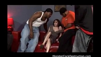 White Girl Banged Out by Black Cocks 010