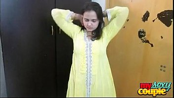 Shalwar kameez porn Indian bhabhi sonia in yellow shalwar suit getting naked in bedroom for sex