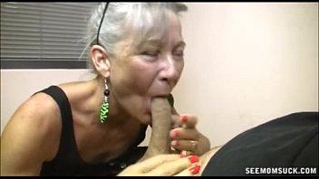 Slutty Granny Blowjob fat cocks