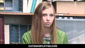 Cute Skinny Tiny Teen Virgin Ava Parker Caught Shoplifting Has First Time Sex With Security Guard For No Cops