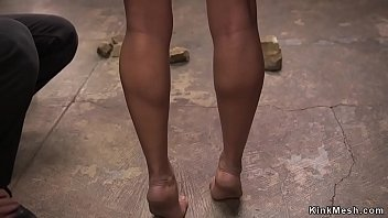 Black slave zappered and tormented