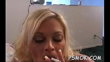 Smoking oral-sex session