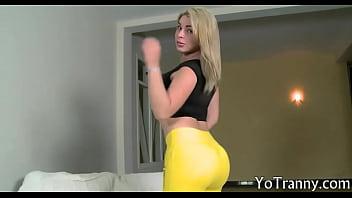 Huge boobs blonde shemale Carol Penelope asshole screwed