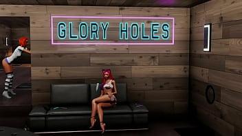 Glory Hole Fuck Club House 3DXChat 4 min