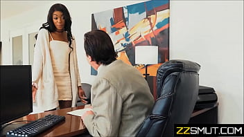young ebony employee and old white boss 6 min