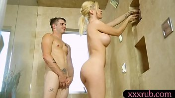 Busty blonde masseuse gets anal pounded by her client