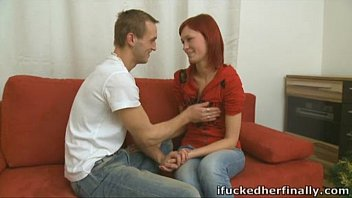 Gorgeous redhead is finally going to let her man fuck her