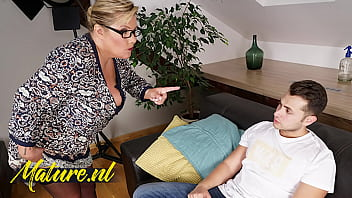 Busty German Teacher Teaching Her ToyBoy Student a Lesson!