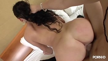 Sexy Brunette with big booty fucks and does reverse cowgirl