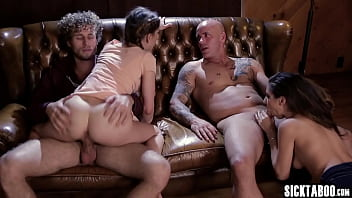 Petite MILF Kristen Scott experienced weird group sex with detective and couple