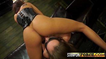 Horny babes enjoy hardcore bondage sex