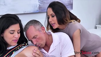 Busty Teen Fucks StepMom And Her Old Boyfriend