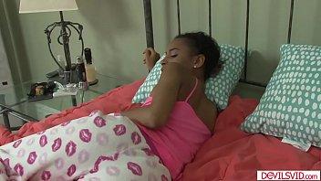 Ebony Babe Banged By White Stepdad