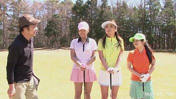 Asian teen girls plays golf nude 7 min