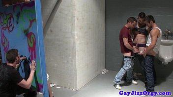 Piss fetish gay hunk empties his bladder 6 min