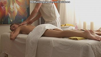 Foxy lady is masturbated and fucked during the massage 6 min
