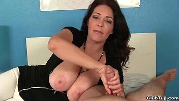 Wife jacks off - Ct-super big-titted milf jacks you off