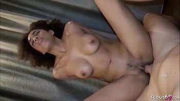SKINNY EBONY TEEN LUNA CORAZON in First Time Porn Casting