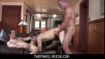 Twink Stepson Family Threesome With Stepdad And Muscle Hunk Grandpa Dale Savage