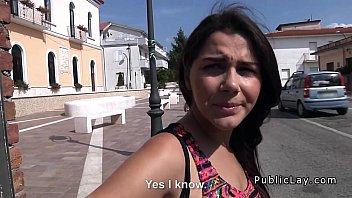 Busty Italian student fucked in public park pov 8 min