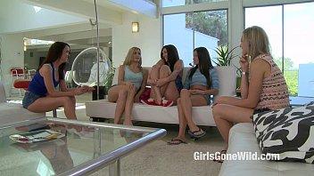 5 Girls have Lesbian Orgy - Five Girl on Girl Sex Scene - Girls Gone Wild 6 min