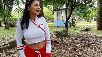 Martinasmith use her soccer skills to get a squirt
