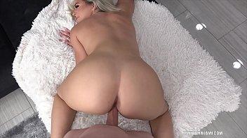 Rharri Rhound takes big white dick
