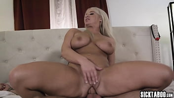 Horny big boobs MILF dominated a naive big cock guy