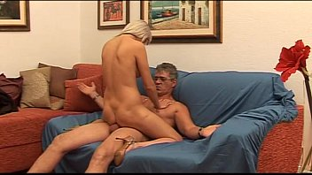 Hot babe with big tits seduces a mature man... preview image