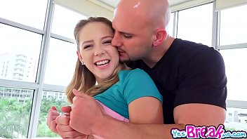 Holly Mack slobbing a big thick cock in her mouth