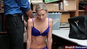 Sears lingerie - Teen thief licked and fucked by officer