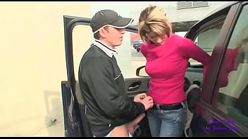 He goes to the airport to pick up his girlfriend and then immediately fucks her in the car
