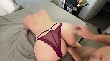 Tits com Pervert step son needs help with his dick erection double creampie