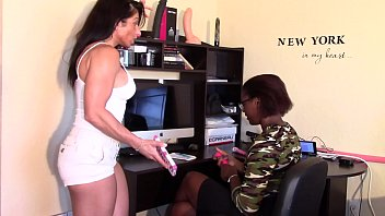 Black Beauty Fingered fucked by her boss (Alexis Rain) Interracial 17 min