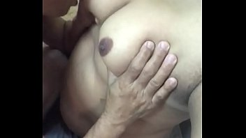Old daddy worshipping young chubby boy's nipples