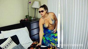 Hot MILF With Big Ass Fucks in Thong Bikini