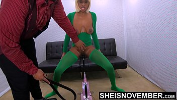 Female african american nude Brutal whipping my brat daughter clit pussy who stole my money, bdsm black babe msnovember cunt stabbed by sex machine standing up on sheisnovember