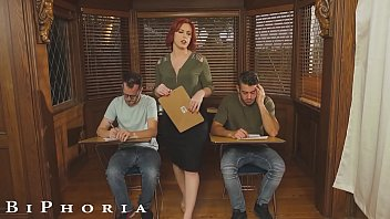BiPhoria - Students Have Bi Threesome With Teacher For Extra Credit