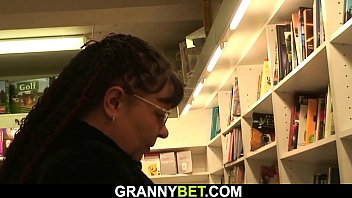 Busty bookworm mature is picked up for cock riding