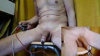 estim electro plug anal   pins brake head cock  for ejac cum with no hands