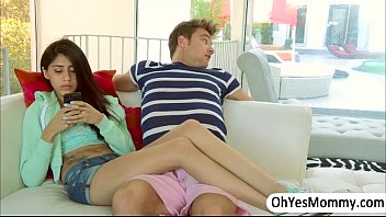 MILF Ariella and teen Angel  loves fucking a younger guy threesome