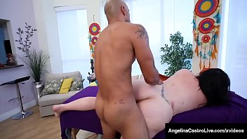 Curvy Cuban BBW Angelina Castro Massaged By Big Black Cock!